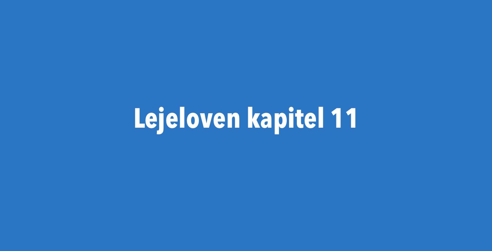 Lejelovens kapital 11