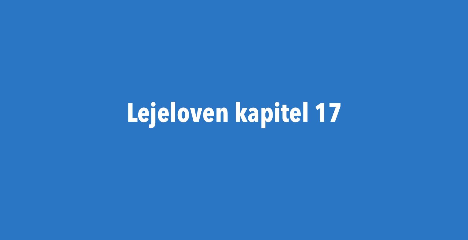 Lejelovens kapital 17
