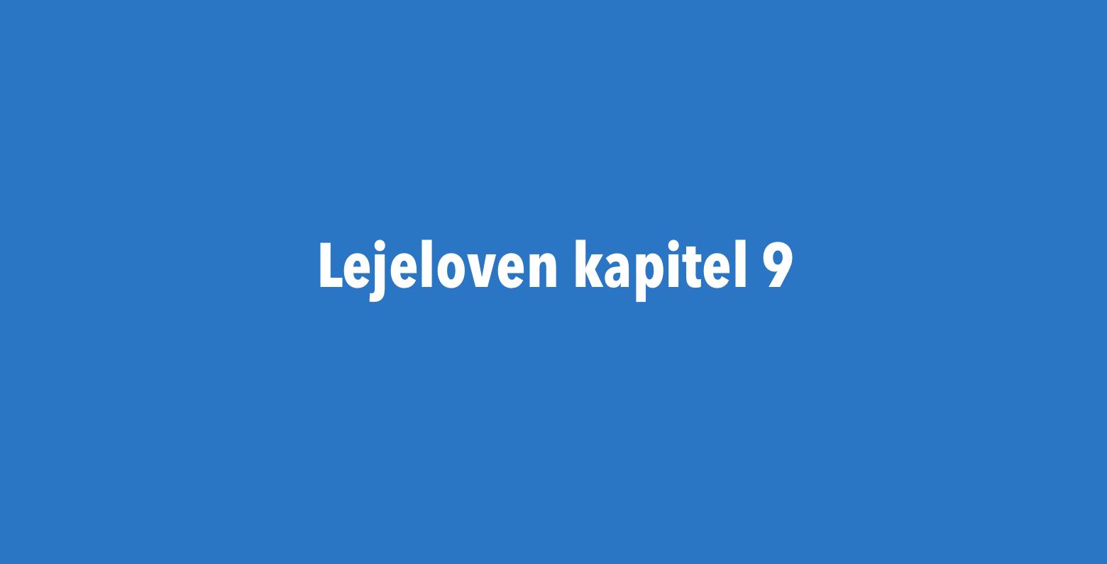 Lejelovens kapitel 9